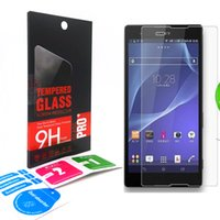 protective film - 2 D Tempered Glass for Sony Xperia XA X C5 C6 M5 M4 SP T3 XL39h E4G ULTRA mm Explosion Proof Clear Screen Protective Film retail box