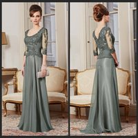Wholesale 2015 Cheap Evening Dresses New Arrival Custom Made A Line Sleeve Lace Beads Floor Length Gown Mother Of The Bride Dresses Long Formal Go