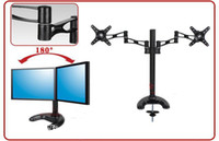 Yes monitor stand - Desktop Computer Monitor Desktop Stand Dual Monitors Bracket inch LCD Monitor Stand Rotatable Adjustable Mounting Bracket