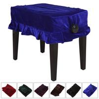 Wholesale Pleuche Musical Piano Dust Guard Stool Cover Slipcover for Single Chair MIA_656