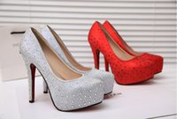Cheap 2015 wedding shoes Best prom shoes evening shoes crystals