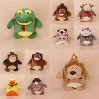 Wholesale 3PCS Baby Silk Cotton Cartoon Animal Backpack Kids Book Bag Shoulder Bag For Christmas Birthday Presents GOO