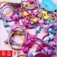 Wholesale wire hair ring Hair band rainbow clips Pony Tails Holder for girls beautiful hair B11