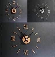 Wholesale 3D Mirror acrylic decorative clock Creative DIY acrylic wall clock manufacturers supply wall clocks decorative fun restaurant clocks