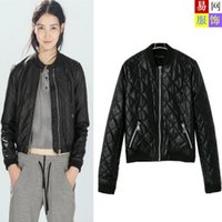 big jack motorcycle - Factory outlets autumn and winter women s European and American big diamond quilted leather motorcycle leather jacket long sleeved jack