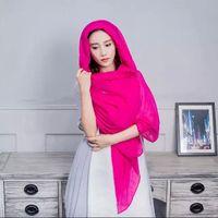 Wholesale Muslim Hijab Scarves Cotton Voile Pashmina Shawl Jersey Scarves For Women Infinity Scarfs Wraps cm Plain Colors Scarfs Factory DHL