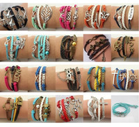 Wholesale New Infinity bracelets Valentine bracelets women Alex and ani bangles Bracelets Peace brcelet Diy Charm bracelets leather band