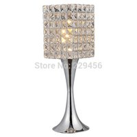 Wholesale Modern Fashion Dimmer K9 Crystal Table Lamp Living Room Bedside Luminaria de Mesa E27 V