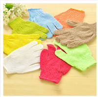 Wholesale Body Exfoliating Skid resistance Massage Shower Bath Sponge Gloves Small rubbing cloth Bath towel Glove