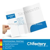 art presentation folders - gsm art paper A4 presentation folder with one pocket cm