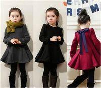 winter long sleeves dress - spring autumn winter New girls denim dress princess dress Children cute dress kids long sleeve dress high quality