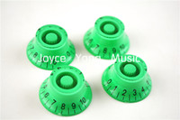 Wholesale 1 Set of Tranparent Green Top Hat Electric Guitar Knobs For SG Style Electric Guitar Wholesales