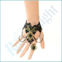 sexloves - Handmade Sexy Lace Enticing Floral Chain Bangle Bracelet Lady Jewellery Sexy Lingerie Costumes Accessories