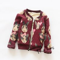 age dogs - Children Coat Winter Fashion Style Boys Girls Outwear With Velvet Dogs Printed Kids Leisure Jacket Fit Age T1446
