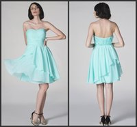 Floor-Length aqua mini dress - 2015 New Fashion Girls Party Dresses Sweetheart Neckline A line Knee Length Aqua Blue Chiffon the th Grade Dresses