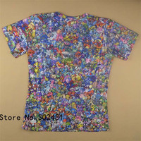 Wholesale Alisister New fashion shirt tops Women men Cartoon peluche Collage d t shirt print funny tshirts plus size