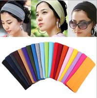 Wholesale 20 cm Candy Color Vogue Women Yoga Sport Headband Simple Hairband Elastic Headband Sports Yoga Accessory headbands