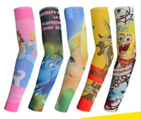 Wholesale Mix designs children arm sleeve tattoo sleeves for outdoor sun protection with many printings can be for dance sports or playing