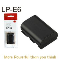 Wholesale Brand New lp e6 Li ion Digital camera battery rechargeable battery LP E6 for Canon EOS D2 D3 D D D D LC E6E