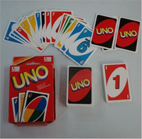 Wholesale BBA4222 new g UNO poker card standard edition family fun entermainment board game Kids funny Puzzle game UNO card board games