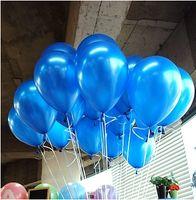 baby shower decorations free shipping - pc Inch1 g Dark Blue Balloon New Baby Shower Birthday Party Wedding Decoration Balloon