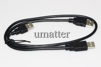 Wholesale 64CM Micro USB Male to Dual Micro USB HDD Cable Power Extension Y Cable For Hard Drive HDD PC Laptop in Cable