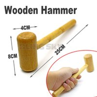 Wholesale 1piece Wooden Hammer safe power reduced multi purpose for hardware Repair jewelry DIY tools sledge work Machinist gardening