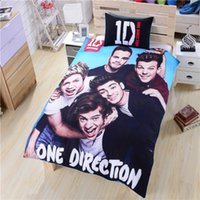 Wholesale UK Famous One Direction Bedding New Soft Duvet Cover One Direction Bed Set Single Doubel Queen Size