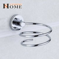 Wholesale 304 Stainless Steel Metal hair dryer rack for Wall Shelf rack Wall mounted Bathroom Walls Shelf Storage Hairdryer Holder