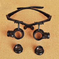 Wholesale 20X LED Eye Glasses Jeweler Magnifier Watch Repair Magnifying Loupe Brand New
