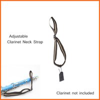 Wholesale Clarinet Accessories Clarinet Neck Strap Cotton Materia with Metal Hook Leather Piece Adjustable Design