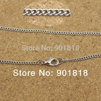 Cheap 10pcs lot Wholesale antique bronze gold silver rhodium metal chains with lobster clasp Fit necklace,bracelets F1882