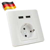 Wholesale MENGS EU Mains Socket With Two USB Chargers Mains Socket AC V V A USB Charger DC V A
