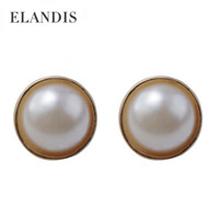pearl alloy earrings - latest high quality Pearl Stud Earring black and white jewelry alloy earrings for women ER04646