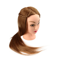 Wholesale Hairdressing Training Tool quot Female Dummy Head Long Hair Head Model with Clamp W2131