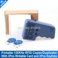 Wholesale Portable handheld KHz EM4100 RFID copier duplicator writable card and keyfobs