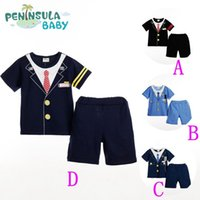 Wholesale 2015 boys preppy T shirt and shorts clothing set summer fashion preppy shirt and shorts piece clothing set factory direct