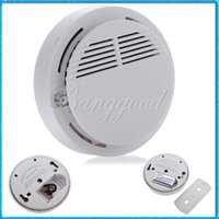 Wholesale Home Safety Security System Battery Wireless Cordless Sensor Monitor Smoke Detector Fire Alarm Backup