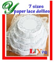 doilies - white round paper lace doilies crafts Rose patterns pc quot sizes christmas frozen cupcake liners placemat party decoration