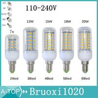 Wholesale SMD5730 E27 GU10 B22 E14 G9 LED lamp W W W W V V angle SMD LED Cob Bulb Led Corn light