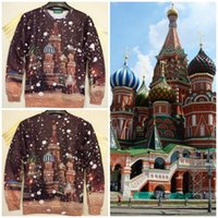 best moscow - NEW Fashion Best Christmas Gift Unisex Sweatshirt D Printed Coat Man Women s Print Hoodies Moscow Snow City Pullover Tops