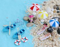 beach crafts - 19pcs Summer beach chair bikini girls sailing baot fairy garden gnome moss terrarium decor resin craft bonsai miniature resinas manualidades