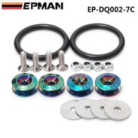 Wholesale EPMAN Neo Chrome NEW Quick Release Fasteners For Car Bumpers Trunk Fender Hatch Lids Kit EP DQ002 C