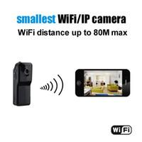 Wholesale New WiFi camera Mini DV Wireless IP Camera Hidden camcorder Video Record wifi hd Remote by Phone mini camera MD81S