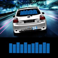 beat car audio - New Sound Music Beat Activated Car Stickers Equalizer Glow Blue LED Light Audio Voice Rhythm Lamp