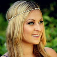 america ad - Handmade beaded pearl hair band Europe and America Contracted hair accessory hair hoop AD free shopping