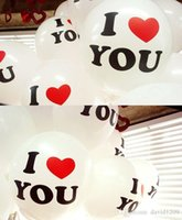 Wholesale 2015 cm BIG Pearl Latex Balloon While Color Christmas Wedding Party I LOVE YOU words Proposal