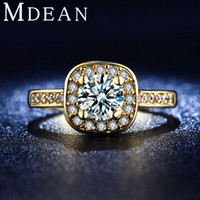 Wholesale Luxury Fine Rings for Women K gold plated Cubic Zirconia ring Engagement Bague Wedding Bijoux accessories MSR191