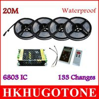 Waterproof IP67 20M lumières led 5050 RGB Dream Color Magic 6803IC lumière led 133 Change RF Remote et 12V15A lumières de noël