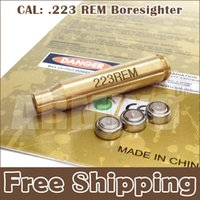 Wholesale Armiyo Brass CAL REM mm Cartridge Bore Sight Sighter Boresighter Red Dot Laser Hunting Accessories